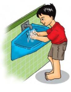 mencuci tangan sebelum makan